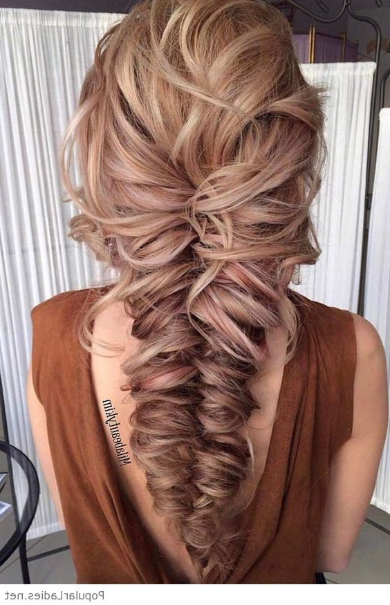 Nice Large Messy Braid | Colorful Hair In 2019 | Braids For In Most Popular Messy Curly Mermaid Braid Hairstyles (View 2 of 25)