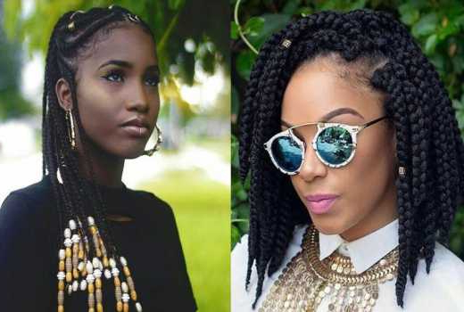 Nine Beads And Braided Hairstyles Worth Copying – Evewoman Regarding Recent Beaded Pigtails Braided Hairstyles (View 7 of 25)