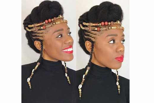 Nine Beads And Braided Hairstyles Worth Copying - Evewoman within Latest Braided Crown Hairstyles With Bright Beads