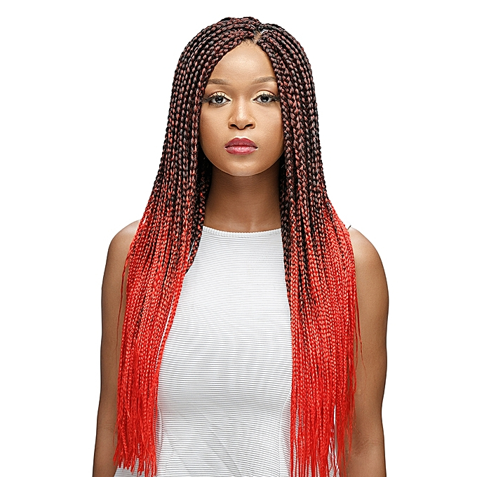 Ombre Braids Hair Extensions - Colour 1/red (2 Packs) pertaining to Latest Two Ombre Under Braid Hairstyles