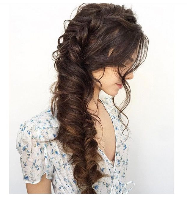 Featured Photo of Oversized Fishtail Braided Hairstyles