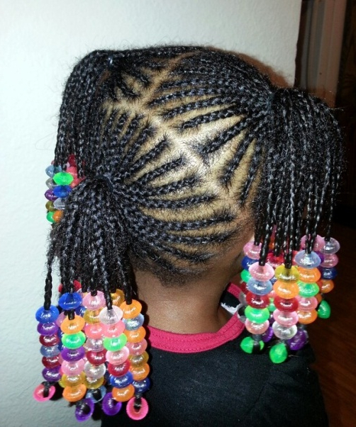 Pigtail Hairstyles With Beaded Ends Simple Braids For Kids Intended For Most Popular Beaded Pigtails Braided Hairstyles (View 11 of 25)