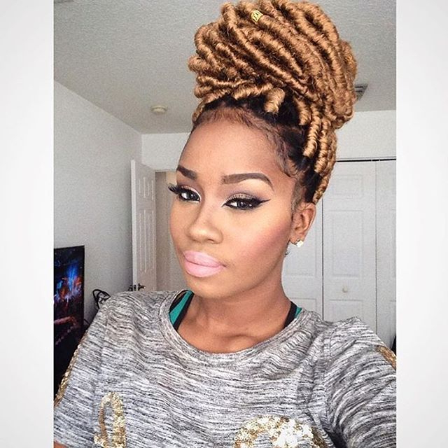 Pin On African American Hairstyles Pertaining To Most Recently Blonde Ponytail Hairstyles With Yarn (View 11 of 25)