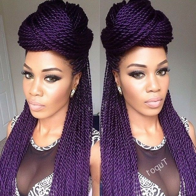 Pin On Black Girls With Pastel Hair Color Pertaining To Best And Newest Pastel Colored Updo Hairstyles With Rope Twist (View 10 of 25)