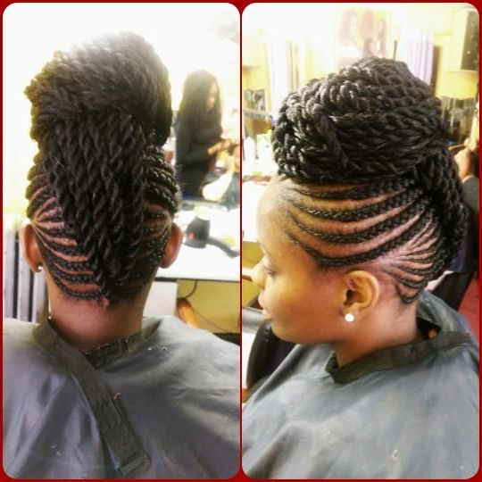 Featured Photo of Black Twisted Mohawk Braid Hairstyles