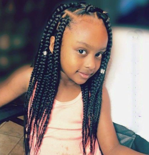 Pin On Classic Hair Styles With Regard To Newest Box Braids And Beads Hairstyles (View 4 of 25)