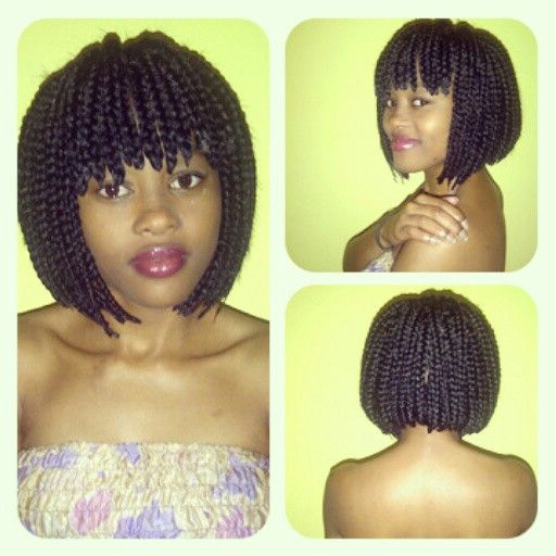Pin On Hair Journey With Best And Newest Bob Braid Hairstyles With Bangs (View 2 of 25)
