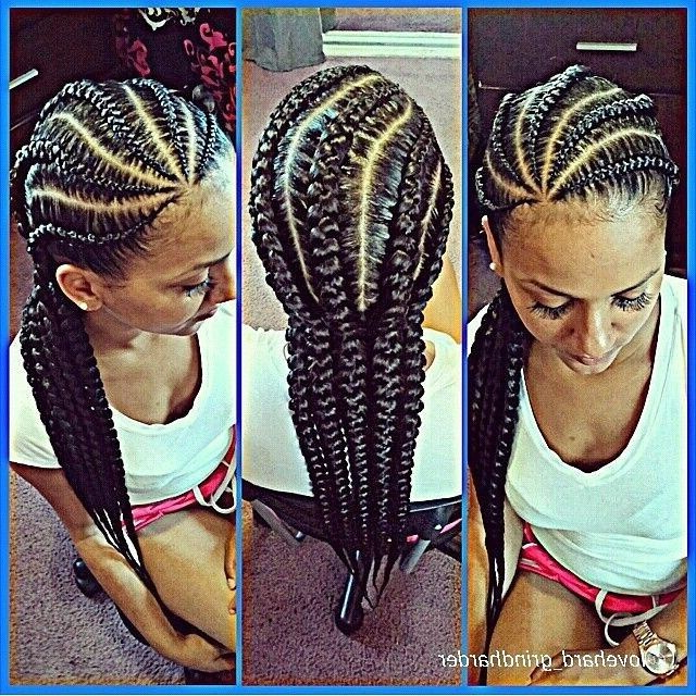 Pin On Hair Styles Throughout 2018 Angled Cornrows Hairstyles With Braided Parts (View 11 of 25)