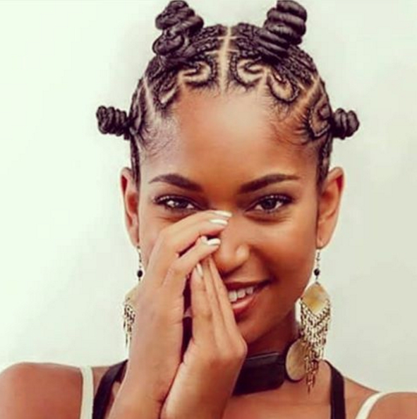 Pin On Hair Throughout Best And Newest Bantu Knots And Beads Hairstyles (View 14 of 25)