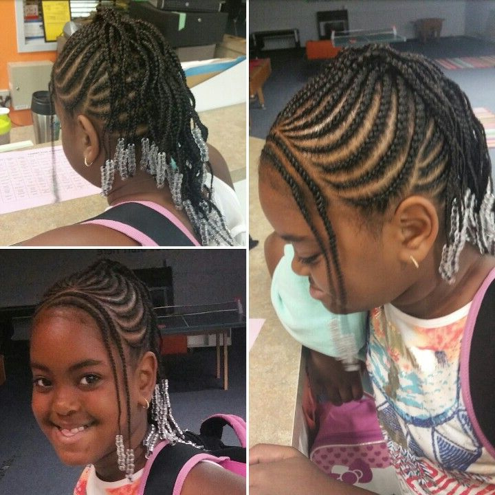 Pin On Little Black Girl For Most Recent Beaded Bangs Braided Hairstyles (View 14 of 25)