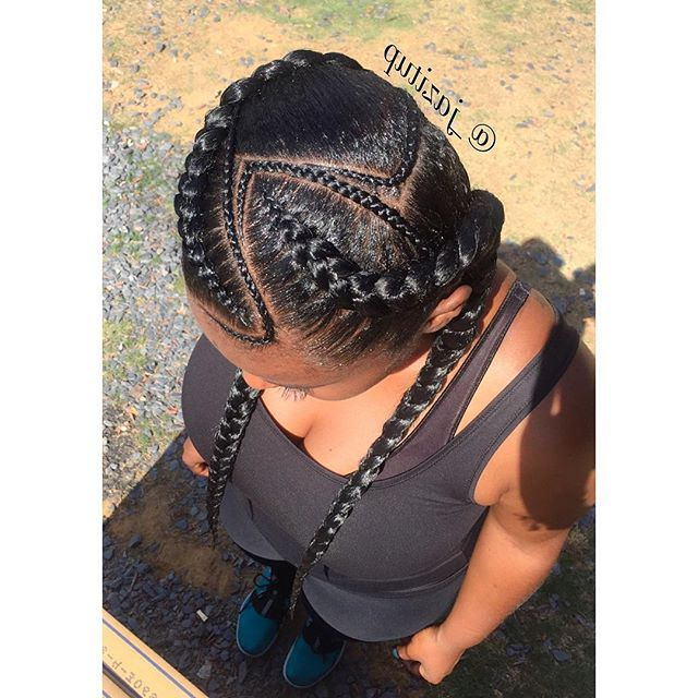 Pin On Protective Hair Styles Intended For Most Popular Skinny Curvy Cornrow Braided Hairstyles (View 9 of 25)