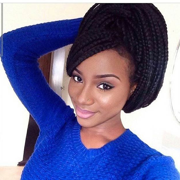 Pin On Stayglam Hairstyles Regarding Most Recent Side Swept Twists Micro Braids With Beads (View 17 of 25)