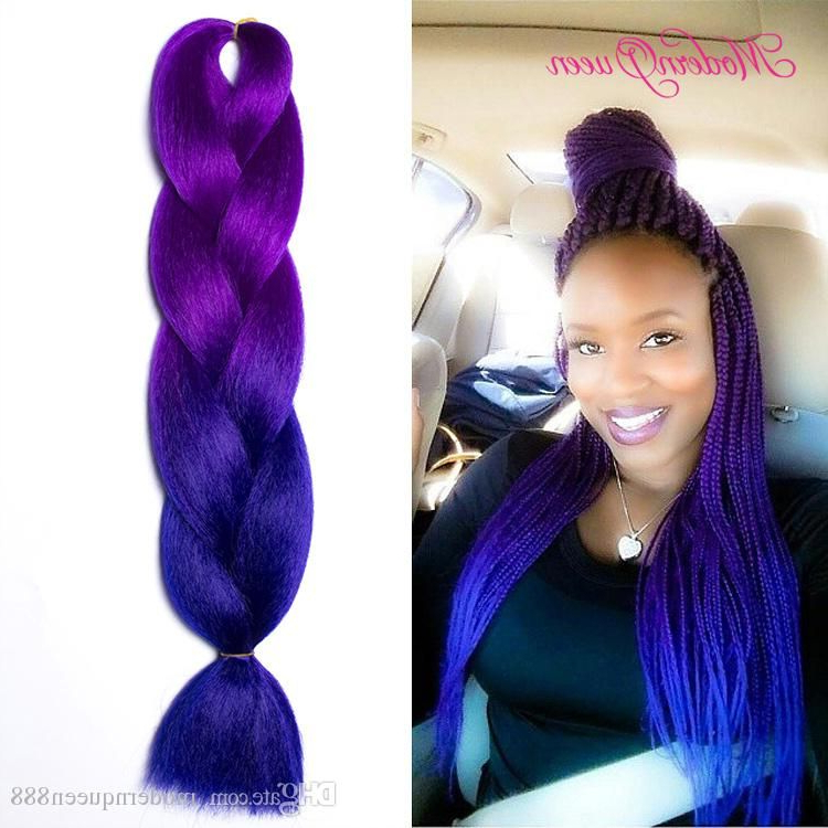 Pin On Synthetic Hair Intended For Best And Newest Two Ombre Under Braid Hairstyles (View 9 of 25)