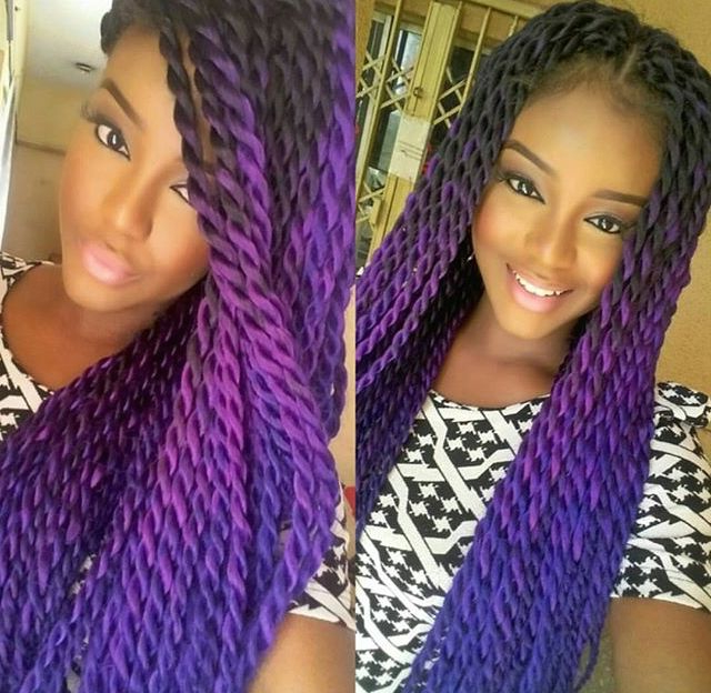 Pincj Reese On Ombre Box Braids/braiding Hair | Crochet within Recent Two Ombre Under Braid Hairstyles