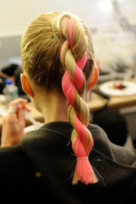 Pink Rope Braid Super Cute And Cool | Hair Styles | Hair Throughout Latest Pink Rope Braided Hairstyles (View 3 of 25)