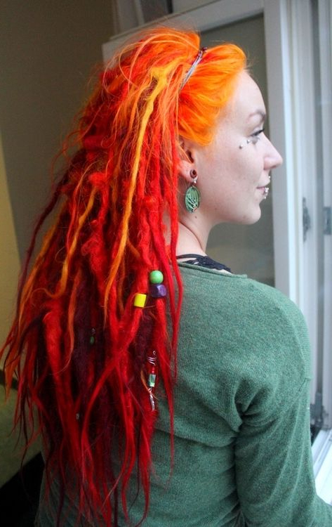 Pinterest With 2018 Red, Orange And Yellow Half Updo Hairstyles (View 7 of 25)