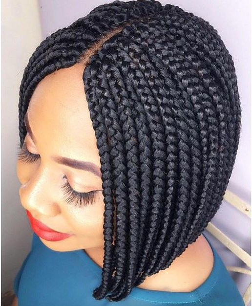 Pixie Bob Braids For Black Women | Hair | Braided Hairstyles With Most Recently Bumped And Bobbed Braided Hairstyles (View 4 of 25)