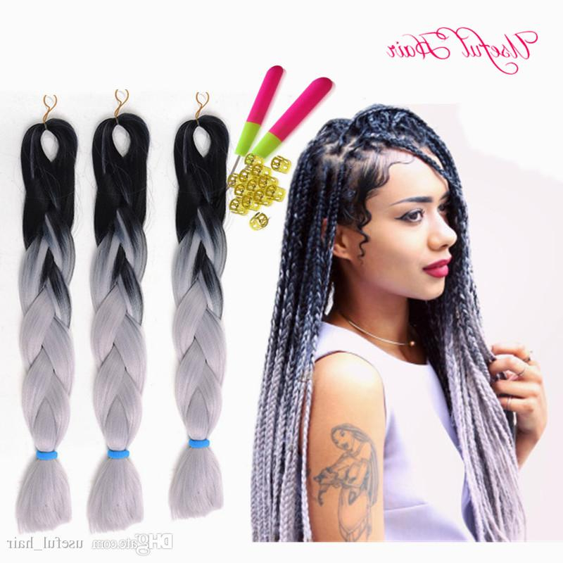 Premium Marley Twist 24Inch Jumbo Braids Synthetic Braiding Hair Two Tone Ombre Color Crochet Hair Extensions Box Crochet Braids Hair Inside Most Current Two Tone Twists Hairstyles With Beads (View 17 of 25)