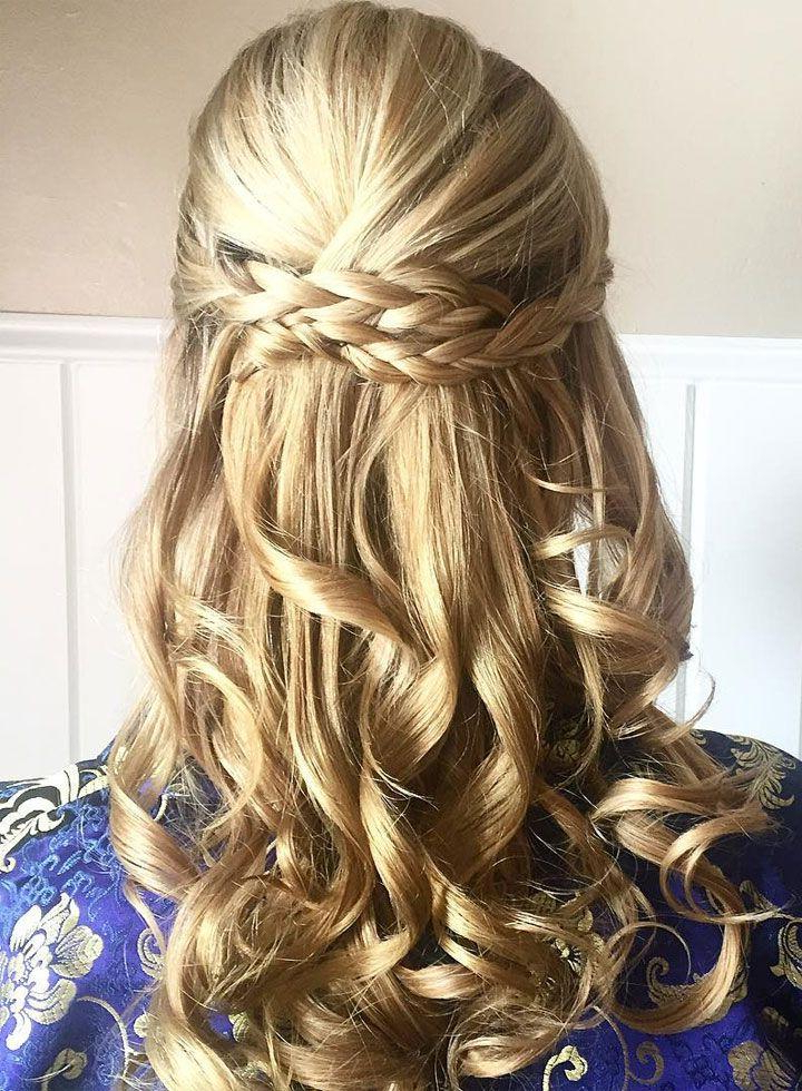 Prettiest Braids And Waves Half Up Half Down Hairstyle For Within Most Recently Half Up, Half Down Braided Hairstyles (View 18 of 25)
