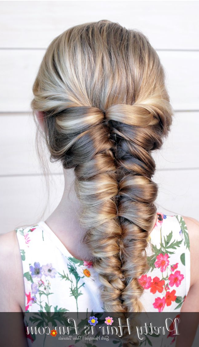 Pretty Hair Is Fun: Easy Flipped Twisted Braid/ Pull Through Intended For Most Up To Date Twisted Mermaid Braid Hairstyles (View 15 of 25)