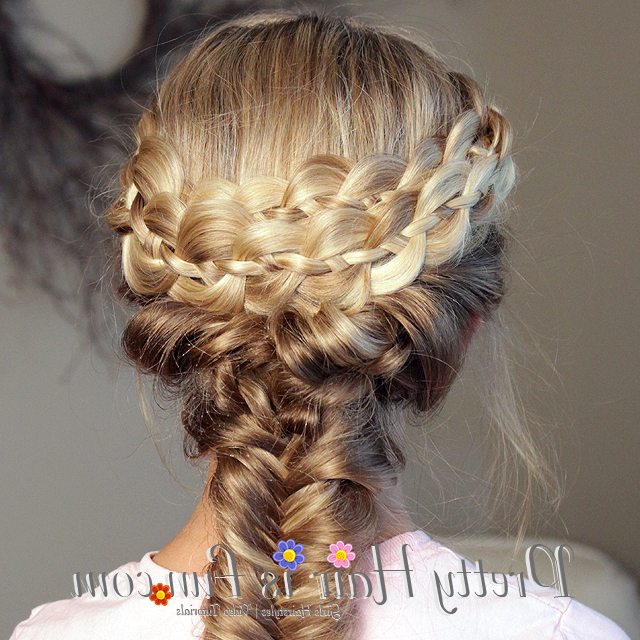 Pretty Hair Is Fun: How To Do A Mermaid Fishtail Braid Intended For Best And Newest Mermaid Braid Hairstyles With A Fishtail (View 18 of 25)