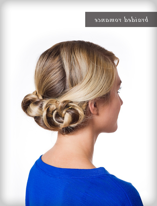 Pretty Simple :: Triple Braided Bun – Camille Styles Regarding Most Current Triple Under Braid Hairstyles With A Bun (View 15 of 25)
