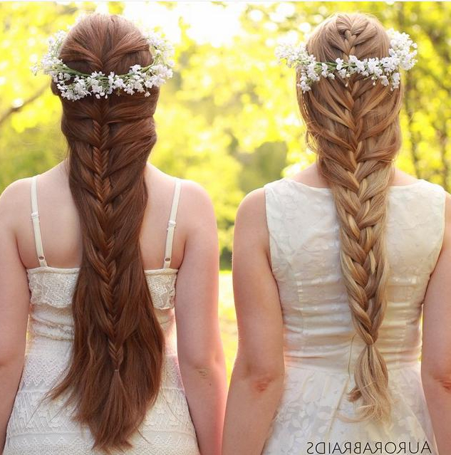 Prom Hairstyles For Girls Who Want To Steal The Night With Latest Mermaid Crown Braid Hairstyles (View 19 of 25)