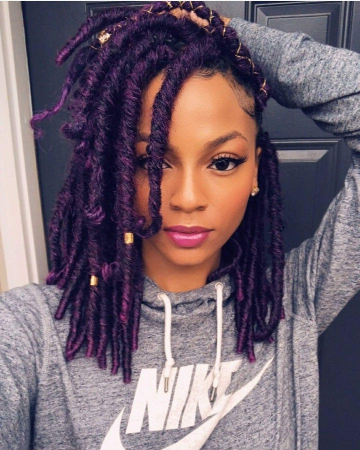 Purple Faux Locs | Hair <3 <3 In 2019 | Faux Locs Hairstyles In Most Up To Date Purple Passion Chunky Braided Hairstyles (View 4 of 25)
