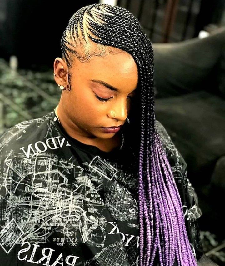 Purple Lemonade Braids?? Follow Keke Official? 4 More Throughout Most Recently Cherry Lemonade Braided Hairstyles (View 2 of 25)