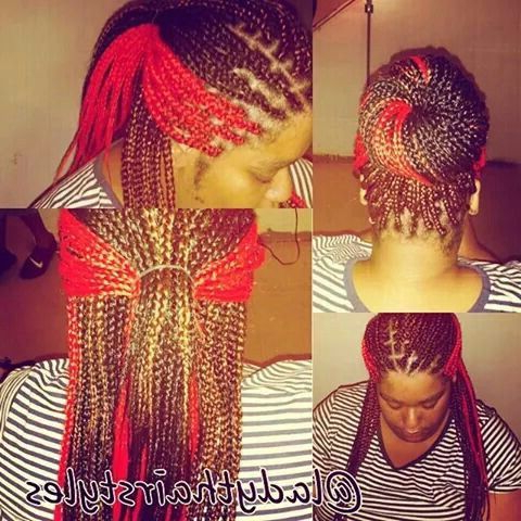 Red Blonde Brown | Box Braids Janet Jackson Inspired In 2019 In Most Up To Date Red And Brown Micro Braid Hairstyles (View 2 of 25)