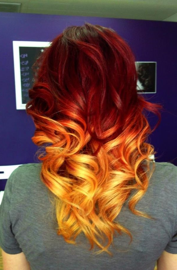 Featured Photo of Red, Orange And Yellow Half Updo Hairstyles