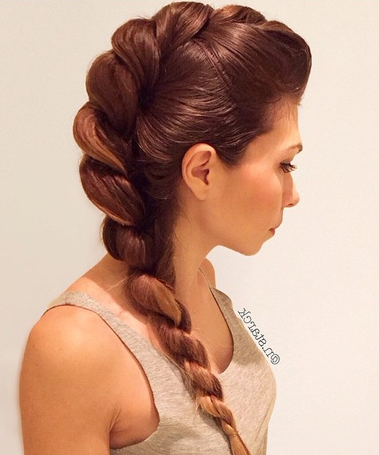 Featured Photo of Loose 4 Strand Rope Braid Hairstyles