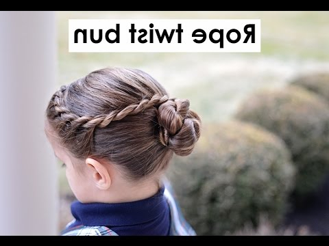 Rope Twisted Bun – Ballet Buns – Hairstyle For Medium Long Hair Tutorial For Most Current Braided Ballerina Bun Hairstyles (View 5 of 25)