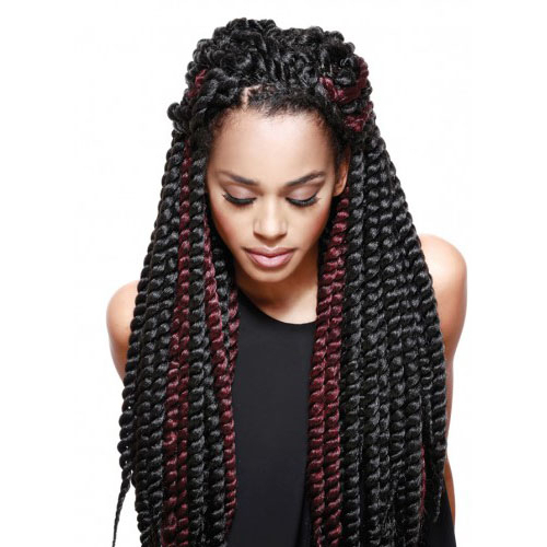 [Royal Silk Braid] Super Rope Twist Throughout Most Up To Date Royal Braided Hairstyles With Highlights (View 11 of 25)