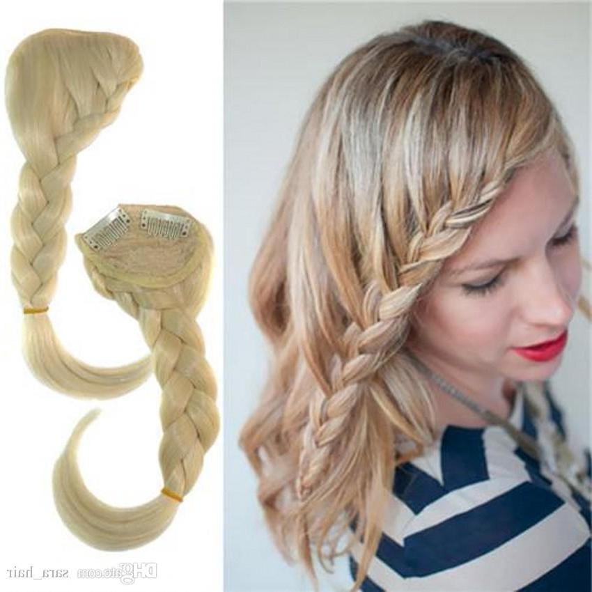 Sara Plaits Braids Side Bang Braiding Hair Bangs Clip In Bangs Fringe Bohemia Braid Synthetic Hair Bang 8*30Cm Hair Accessories Intended For Latest Braid Hairstyles With Braiding Bangs (View 7 of 25)