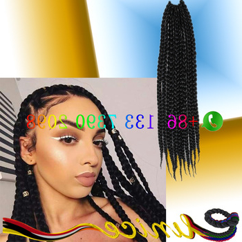 Senegalese Box Braids Black&grey Ombre Two Tone Ombre Braiding Hair Dreadlock Beads Crochet Twist – Buy 3X Box Braids,havana Mambo Twists Box Braids Within Best And Newest Two Tone Twists Hairstyles With Beads (View 11 of 25)