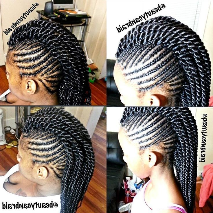 Senegalese Twist Mohawk Braids   African Kids Fashion In In Most Up To Date Crochet Mohawk Twists Micro Braid Hairstyles (View 13 of 25)