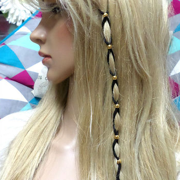 Shop Leather Hair Wraps On Wanelo Throughout Most Current Braided Hairstyles With Beads And Wraps (View 2 of 25)