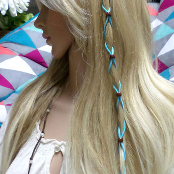 Shop Leather Hair Wraps On Wanelo Throughout Recent Braided Hairstyles With Beads And Wraps (View 9 of 25)