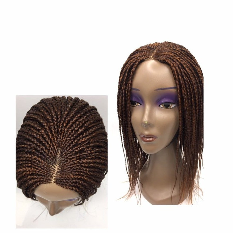 Short African Fashion Synthetic Women Ghana Box Braids Feather Braided Wig, Custom Braids In Color 30/33 Intended For Best And Newest Back And Forth Skinny Braided Hairstyles (View 21 of 25)