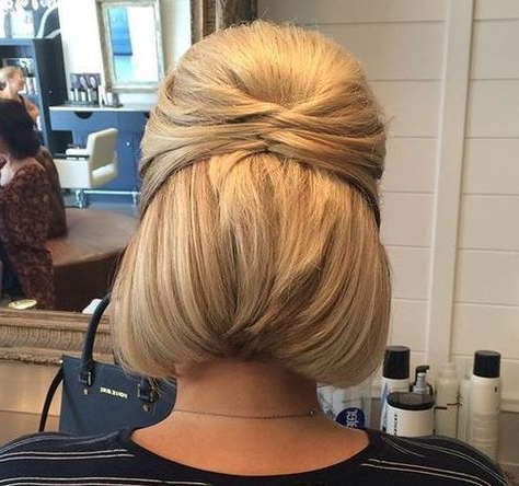 Short Options | Hair | Short Hair Styles, Hair Styles, Short Pertaining To Recent Rolled Half Updo Bob Braid Hairstyles (View 2 of 25)
