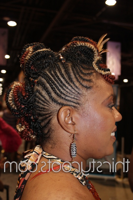 Show Pictures Of Black Hair Braiding Styles In Most Recent Mohawk Braid Hairstyles With Extensions (View 12 of 25)