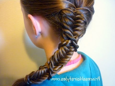 Side Braid, Twist Wrapped Fishtail Hairstyle Intended For Best And Newest Wrapping Fishtail Braided Hairstyles (View 17 of 25)
