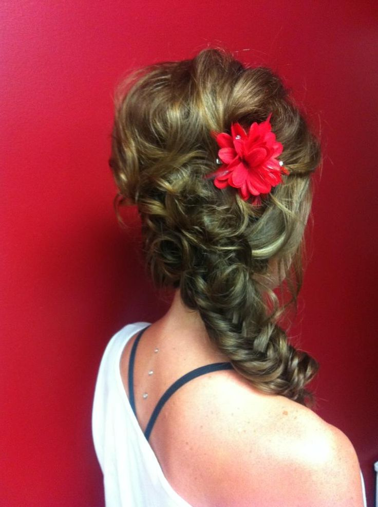 Side Fishtail Braid For Women | Hairstylo With Most Recent Mermaid Fishtail Hairstyles With Hair Flowers (View 18 of 25)