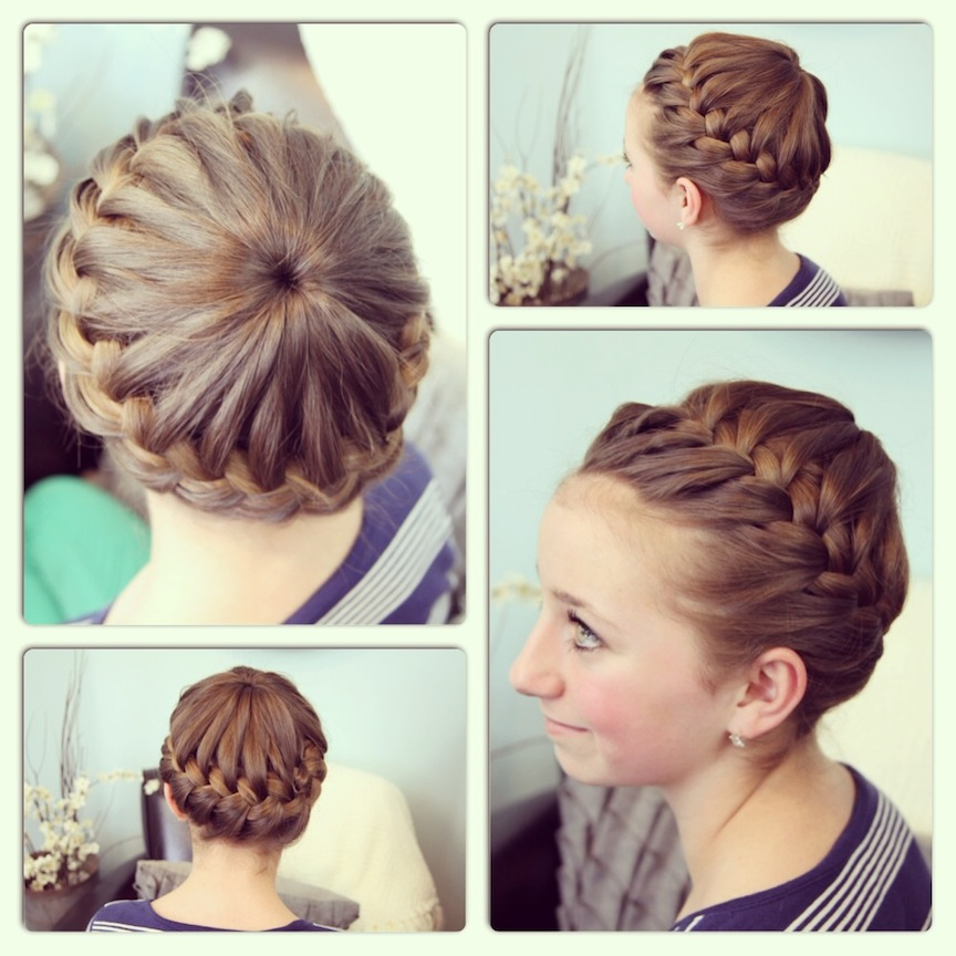 Starburst Crown Braid | Updo Hairstyles | Cute Girls Hairstyles In Most Popular Wide Crown Braided Hairstyles With A Twist (View 6 of 25)