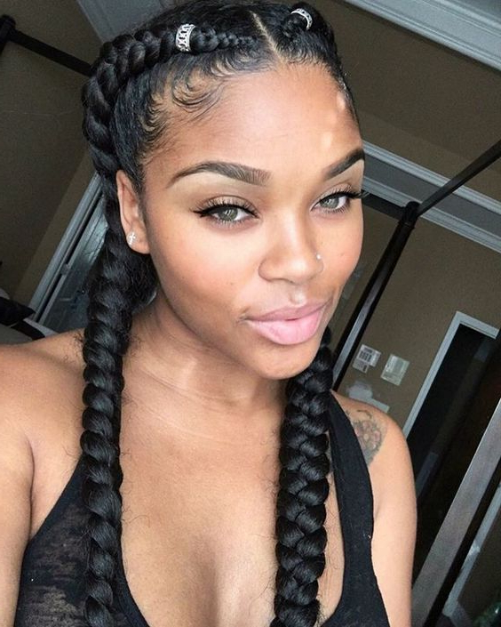 Stunning Braid Hairstyles With Weave With Regard To Most Up To Date Long Hairstyles With Multiple Braids (View 11 of 25)