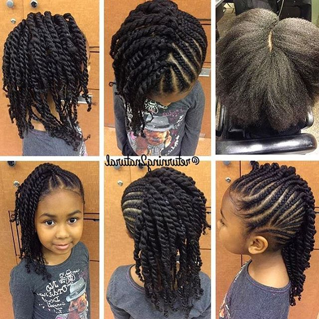Stylist Feature  How Cute Is This Side Swept Style Done Pertaining To Newest Side Swept Twists Micro Braids With Beads (View 8 of 25)