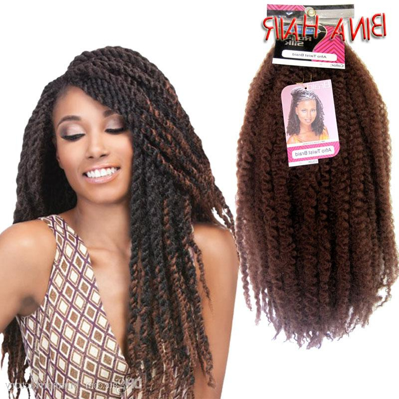 Synthetic Crochet Braiding Hair 18Inch 32Roots/pack Royal Silk Afro Twist Braids Kanekalon Marley Braid Hair Extensions 1Packs/lot With Regard To Recent Royal Braided Hairstyles With Highlights (View 25 of 25)