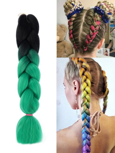 Synthetic Long Colorful Big Braid Hair Extension With Best And Newest Multicolored Extension Braid Hairstyles (View 2 of 25)