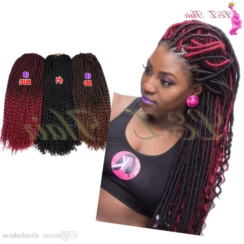 Synthetic Wavy Faux Locs Crochet Hair Braids Twist Curly Hair Extension 20 24Roots/pack Goddess Locs Dreadlocks Multicolor For Recent Multicolored Extension Braid Hairstyles (View 22 of 25)